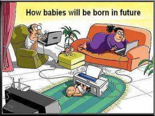 How babies will be born in future.