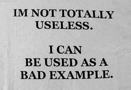 Im not totally useless.